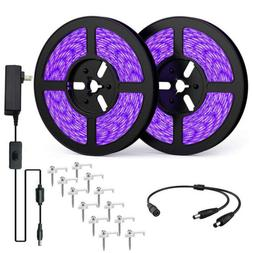 LED UV Light Strips Ultraviolet Flexible Purple 33FT Blackli