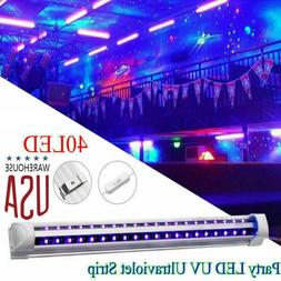 LED UV Ultraviolet Strip Tube Light Bar 40 Leds Partys Lamp