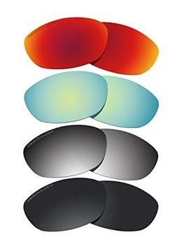 4 Pairs Lenses Replacement Polarized D3 for Oakley Fives 2.0