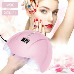 LP 36W 12LED USB Nail Lamp UV Natural light Nail Dryer Curin
