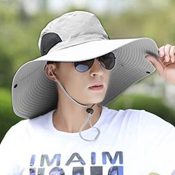 Hongyan Men's Summer Sun Hat Outdoor Large Fishing Hat Trave