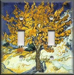 Metal Light Switch Plate Cover - Van Gogh Art Mulberry Tree