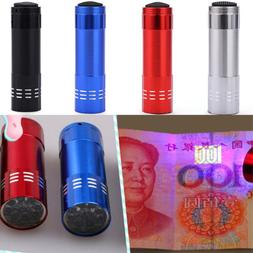 Mini Aluminum UV Ultravlolet LED Flashlight  Black light Tor
