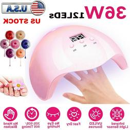 Nail Dryer LED Lamp UV Light for Nails Polish Gel Machine El