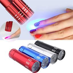 Nail Dryer Mini 9 LED <font><b>Lights</b></font> Flashlight