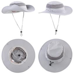 Outdoor Mesh Sun Hat Wide Brim UV Protection Fishing Hiking