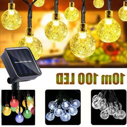 Outdoor Solar Powered 100LED String Light Garden Patio Yard