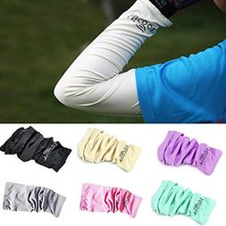 Arm Sleeves Cover,7 Pairs UV Sun Protection Long Arm Cover L
