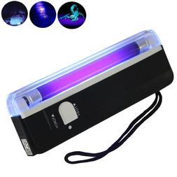 US Mini Handheld UV Black Light Torch Portable Blacklight wi