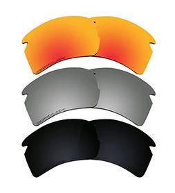 3 Pairs Polarized Lenses Replacement K1 for Oakley FLAK 2.0