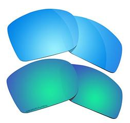 2 Pairs Polarized Lenses Replacement for Oakley Big Taco Sun