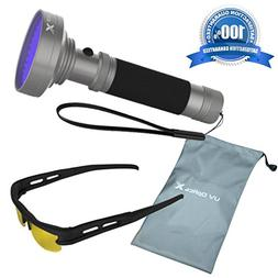 Powerful Black Light Flashlight 100 LED UV Light-Detects Pet