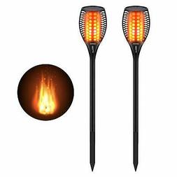Cinoton Solar Light,Path Torches Dancing Flame Lighting 96 L