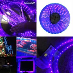 Super Waterproof 12V BLACK Lights Strip LED UV Blacklight Fi