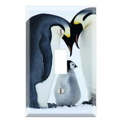 Sweet Baby Penguin with Parents Decorative Single Toggle Lig