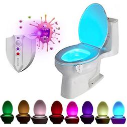 ROYFACC 8 Colors LED Toilet Light Motion Detection Bathroom