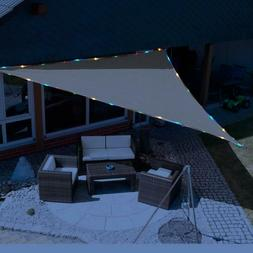 Triangle Sun Shade Waterproof String Lights Canopy Outdoor G