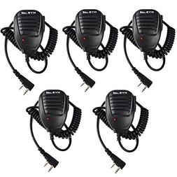 HYS Two Way Radio 2 Pin Micophone Red Light Speaker MIC for