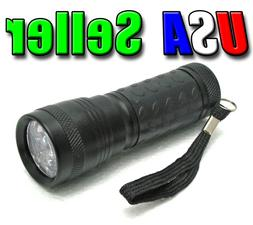 Ultra Violet 14 380-400nm UV LED UV-1403 Flashlight Black Li