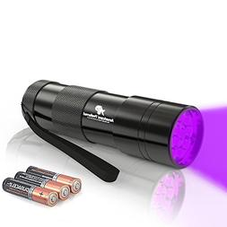 365nm Ultraviolet Flashlight, 12-LED UV Light Perfect as Fri