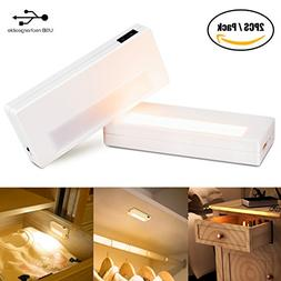 LED Under Cabinet Light, IR Sensor Lights USB Rechargeable P