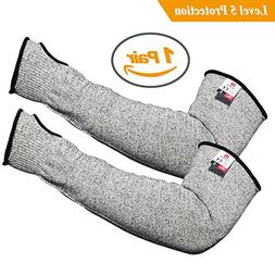 Updated Longer Cut Resistant Knit Sleeves Level 5 Protection