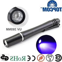 UV LED 3W 395nm, BLACK : Hot selling 3W uv light pen 2AAA Ba