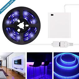 UV Black Light LED Strip - 2018 New Design Battery Operated