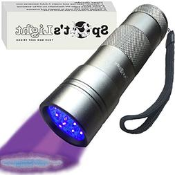 Spot's Light UV Blacklight Flashlight, Silver 12 LED, Ultrav