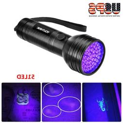 UV Flashlight Black Light Flashlight Ultraviolet LED Pet Uri