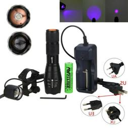UV Flashlight Blacklight 3 LED 395nm Ultra Violet Light Scor