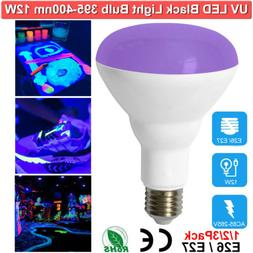 UV LED Black Light Bulbs 12W Bulb for Glow in The Dark UVA L