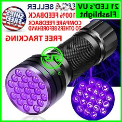 UV Ultra Violet 21 LED Flashlight Mini Blacklight Aluminum T
