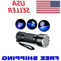 uv ultra violet 21 led flashlight mini