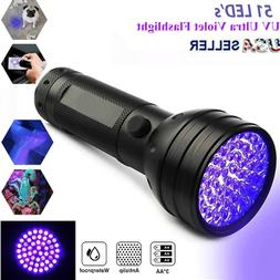 Hot UV Ultra Violet 51 LED Flashlight Blacklight Light 395 n