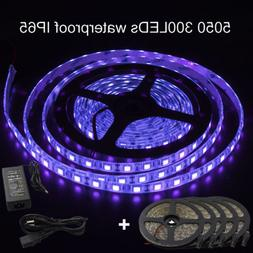 Wholesale16ft 5050 Waterproof UV Purple Fish Black Light 300