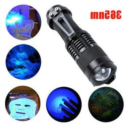 Zoomable Led UV Flashlight Torch Light 365nm Ultra Violet Bl